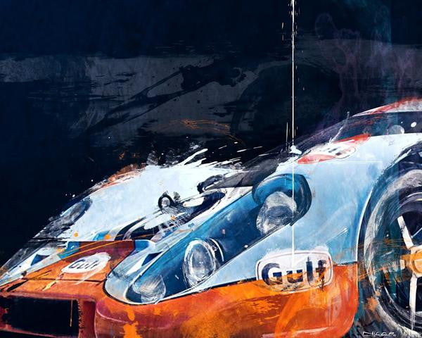 917 Gulf 20 x 16 Limited Edition Art by Nicolas Rousselet