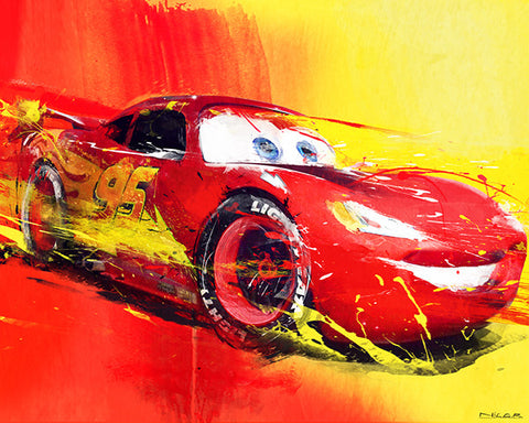 McQueen 20 x 16 Limited Edition Art by Nicolas Rousselet