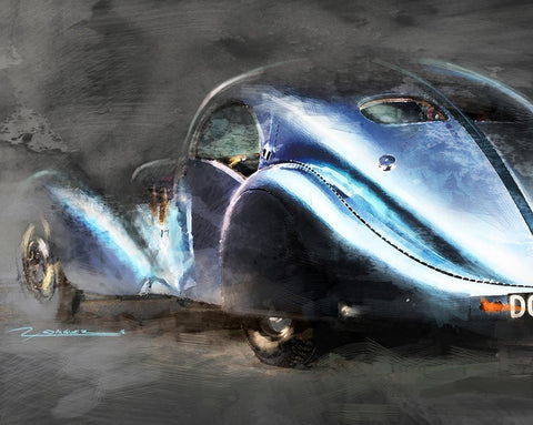 Bugatti Atlantic 20 x 16 Limited Edition Art by Randy Rodriguez