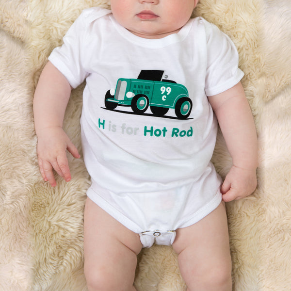 H is for Hot Rod Onesie
