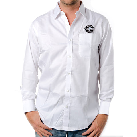 Embroidered Petersen Dress Shirt (White)