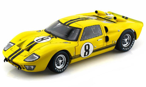 Shelby Collectibles 1966 Ford GT-40 MK 2 Yellow #8 1:18 Scale