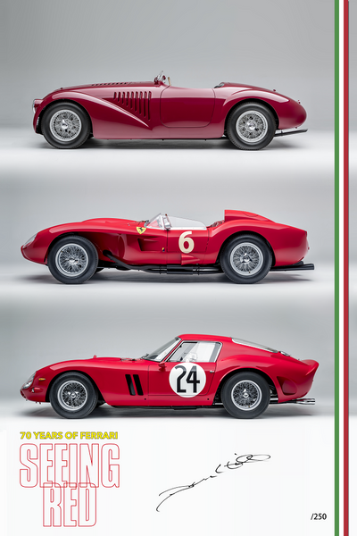 Limited Edition Seeing Red Ferrari Exhibit Print
