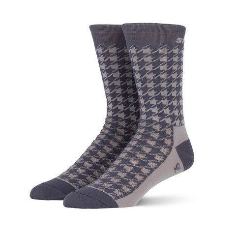 Striipe Socks - Houndstooth Grey