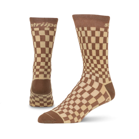 Striipe Socks- Pasha Brown/Tan