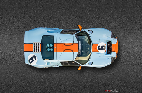 Ted7 Metal Print - Gulf Ford GT40 #6