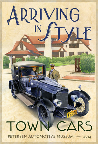 Petersen Poster - Town Cars Exhibit