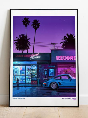 "Retro Summer Nights 18x24"" Poster (Limited)"