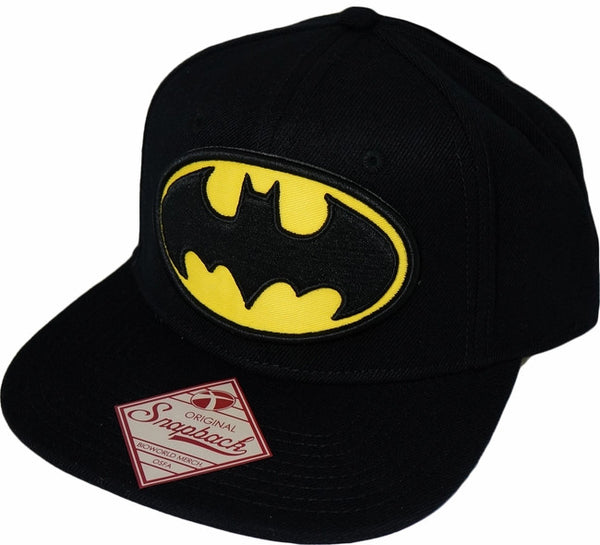 Batman Logo Black Snapback Cap