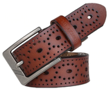 Brown Brogue Leather Belt