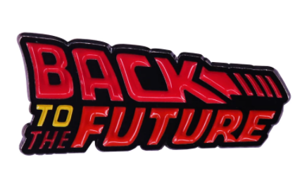 Back To The Future Logo Pin
