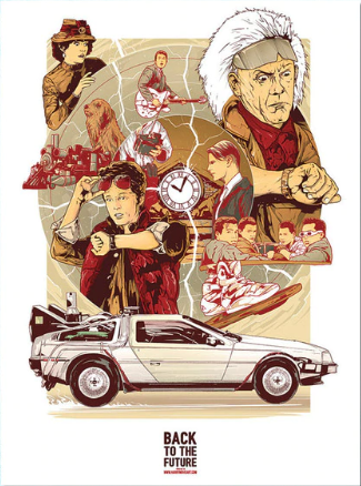 BTTF Collage Fabric Poster
