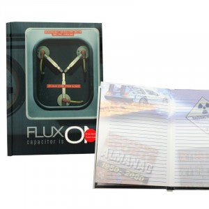 Back to the Future Notebook - Flux Capacitor with Light