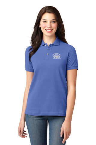 Checkered Flag Women's Blue Polo - CF200 Members Exclusive