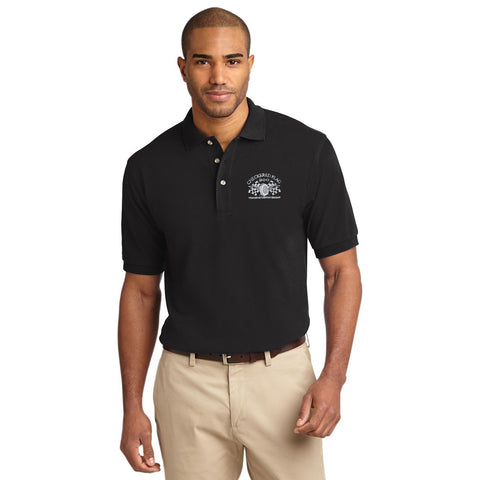 Checkered Flag Men's Black Polo- CF200 Member Exclusive