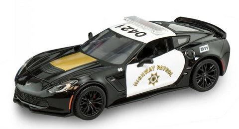 Maisto 2015 Corvette Z06 Highway Patrol 1:24 Scale