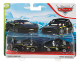 Disney- Pixar Cars- Lewis Hamilton and Bruce Boxmann 2-Pack Toy Racers