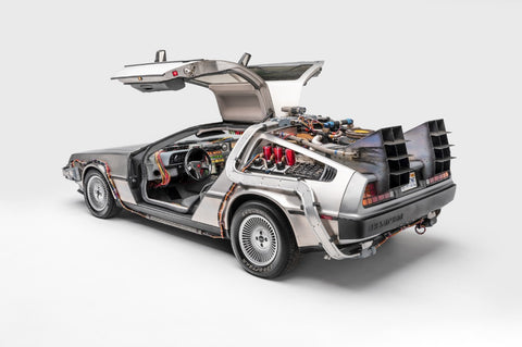 Ted 7 Metal Prints - Back to the Future Delorean Time Machine