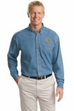 Checkered Flag Men's Long Sleeve Denim Shirt - CF200 Exclusive