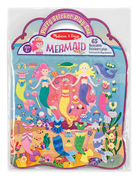 Puffy Sticker Play Set- Mermaid