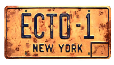 Ghostbusters 3 (2020) Distressed ECTO-1 License Plate