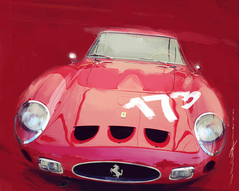 250 Ferrari Limited Edition Art by John Anthony Sahs