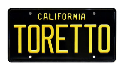 The Fast and the Furious Dodge Charger TORETTO License Plate