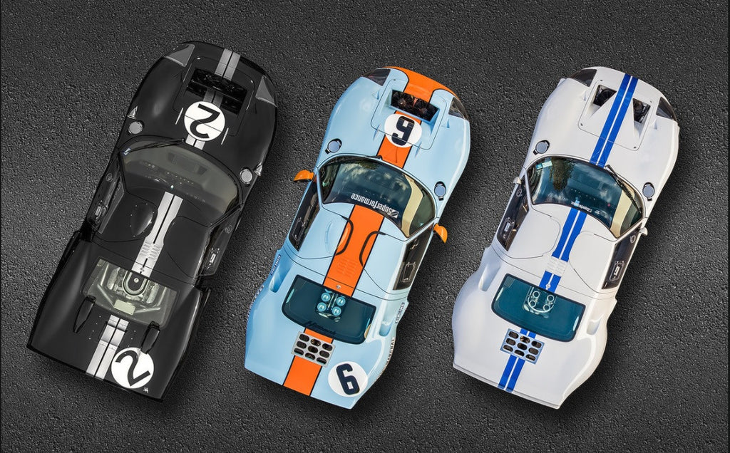 Ted Metal Print Ford Gt Trio