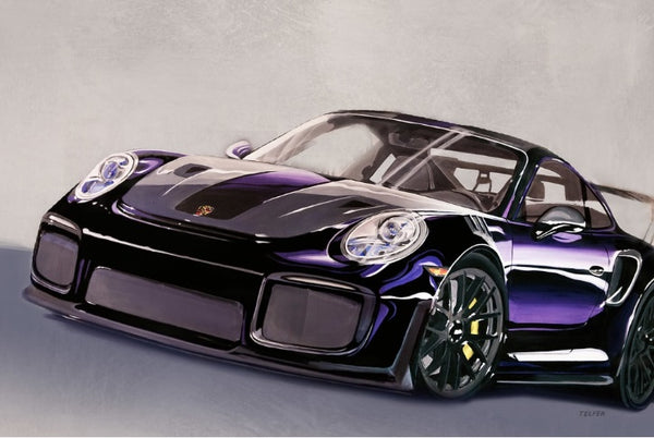 GT2RS BLACK LIMITED EDITION PRINT
