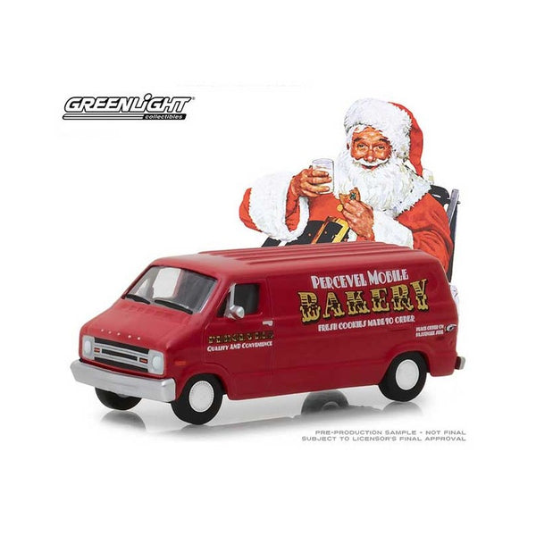 Greenlight Collectibles- Norman Rockwell 1977 Dodge B-100 1:64 Scale