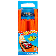 HOT WHEELS- TRACK BUILDER STRAIGHT W/ CAR