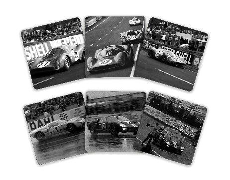 Ford / Ferrari Wars Drink Coasters