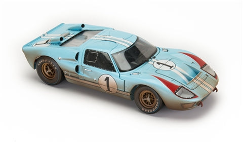 1966 Ford GT40 LeMans #1 After Race 1:18 Scale