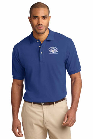 Checkered Flag Men's Blue Polo - CF200 Member Exclusive