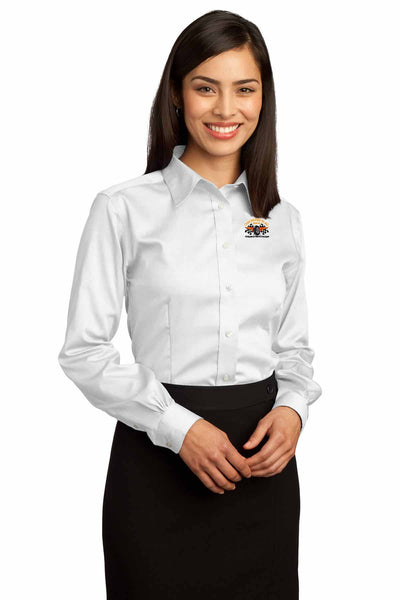Checkered Flag Women's Oxford Shirt - CF200 Exclusive