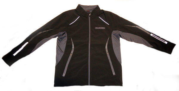 Petersen Logo Black and Charcoal Soft Shell Ladies Jacket