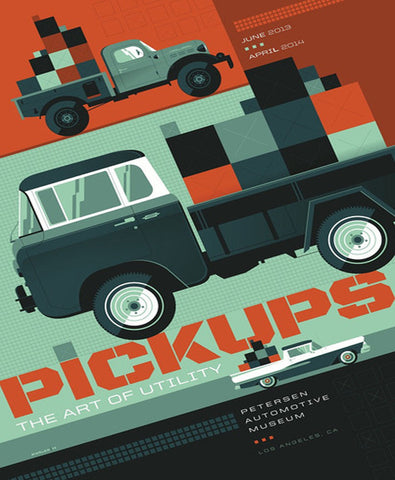 Petersen Museum Pick-Up Trucks Exhibit Poster