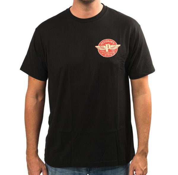 "Petersen Tee - Flying ""P"" in Black"