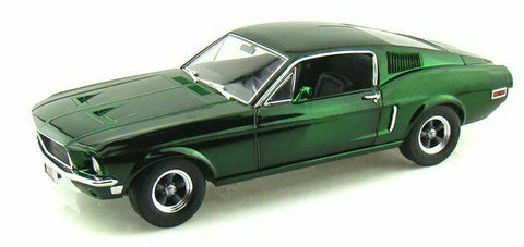 GREENLIGHT 1968 Bullitt Mustang GT Fastback 1:18 Scale (Green Chrome)