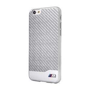 BMW Carbon Fiber and Aluminum Finish Silver Hard iPhone Case