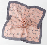 Patterned Riding Silky Scarf