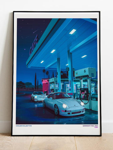 "Midnight Fuel Run 18x24"" Poster (Limited)"