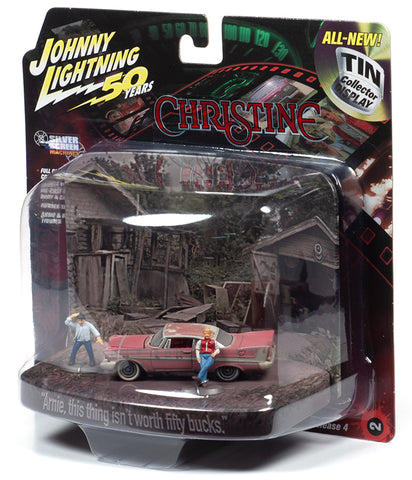 "Johnny Lighting 1958 Plymouth Fury with Figures ""CHRISTINE"" 1:64 Scale"