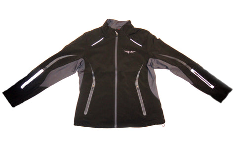 "Petersen Flying ""P"" Black and Charcoal Soft Shell Ladies Jacket"