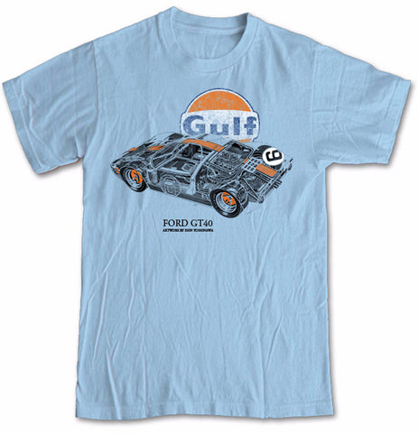 Ford GT40 Gulf Retro Blue