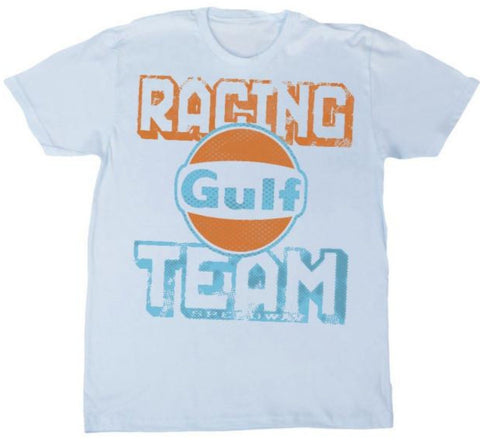 Gulf Racing Team Men's T-Shirt (Light Blue)