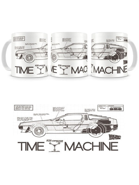 Back To The Future Ceramic Mug - Time Machine Plans