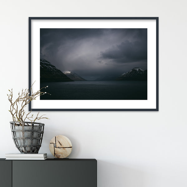 Dark Clouds over the Faroe Islands | Wall Art Print by Jan Erik Waider