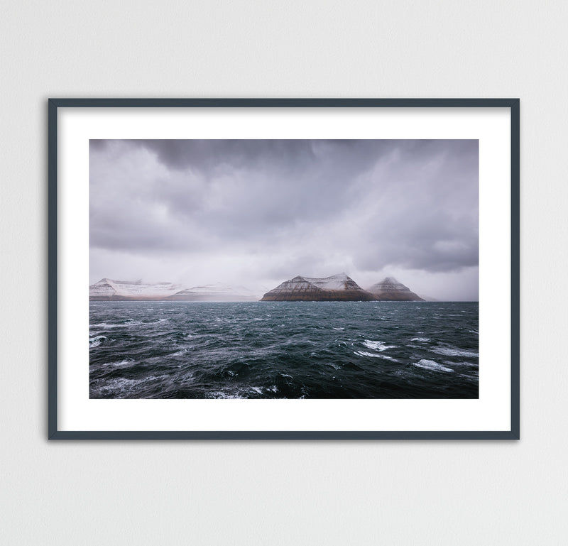 Dark and Stormy Day at Sea, Faroe Islands | Framed Photo Print by Jan Erik Waider