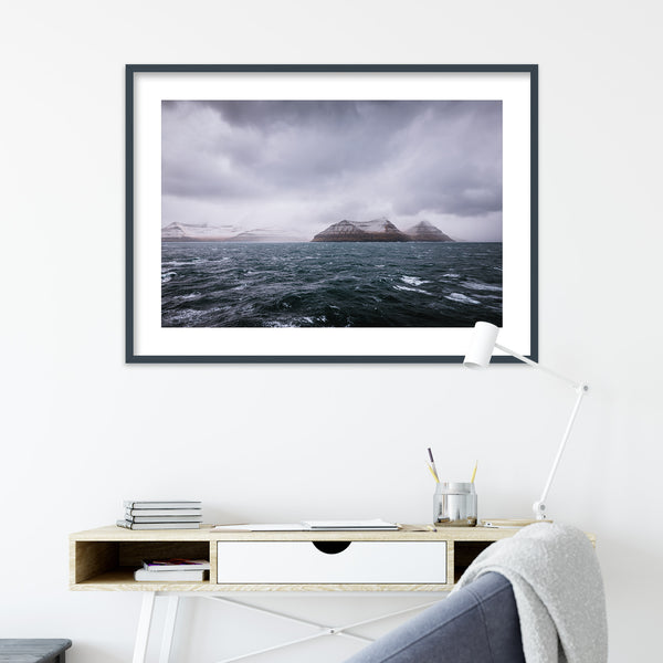 Dark and Stormy Day at Sea, Faroe Islands | Wall Art Print by Jan Erik Waider